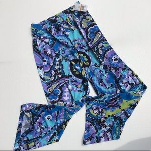 New direction long flow floral small pants NEW